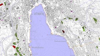 Ausschnitt der neuen Überblickskarte aller gemeinnütziger Wohnungen im Kanton Zürich