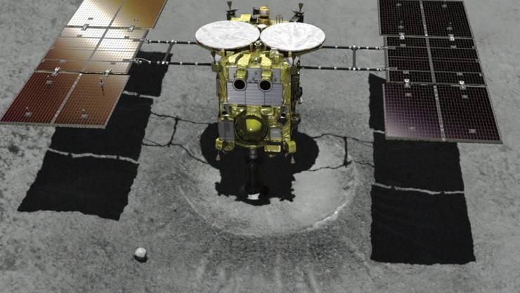 """Die japanische Raumsonde """"Hayabusa2"""" ist auf dem Asteroiden Ryugu gelandet. (Symbolbild)"""