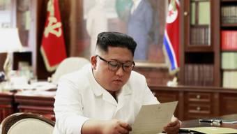 Nordkoreas Machthaber Kim Jong Un hat einen Brief von US-Präsident Donald Trump erhalten.