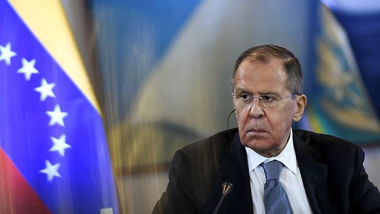 Der russische Aussenminister Lawrow hat am Freitag am Freitag am Runden Tisch des Nationalen Dialogs in Caracas teilgenommen.