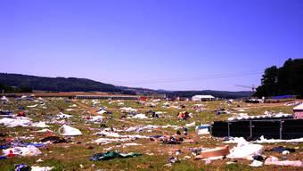 Müllberge an Aargauer Festivals