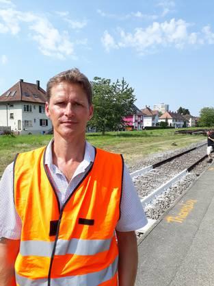Norbert Krebs, Leiter Technologisches Anlagemanagement Fahrbahn bei der SBB, leitete die Versuche.