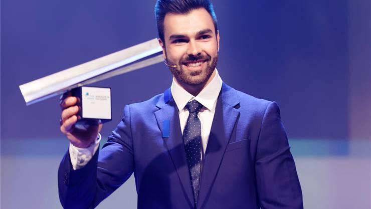 Oliver Hegi beim Award 2018.