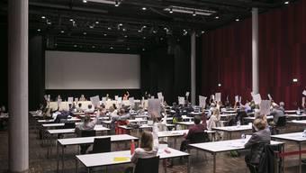 Am 19. Juni 2020 tagte der Einwohnerrat Brugg zum ersten Mal im Campussaal, am 12. Dezember kommt er nochmals.