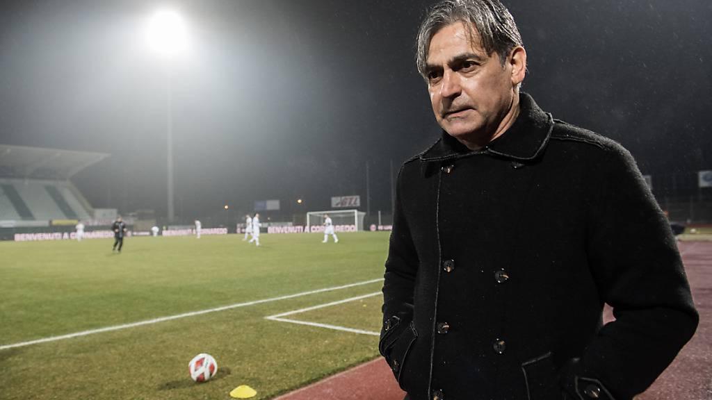 Maurizio Jacobacci kam mit Lugano auch gegen das Schlusslicht Vaduz nicht zum ersehnten Heimsieg
