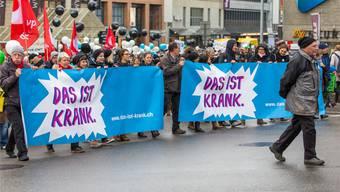 Der Auslöser für die Spannungen an der Schule in Döttingen: Die Demonstration im November in Aarau gegen den Bildungsabbau. Fabio Baranzini