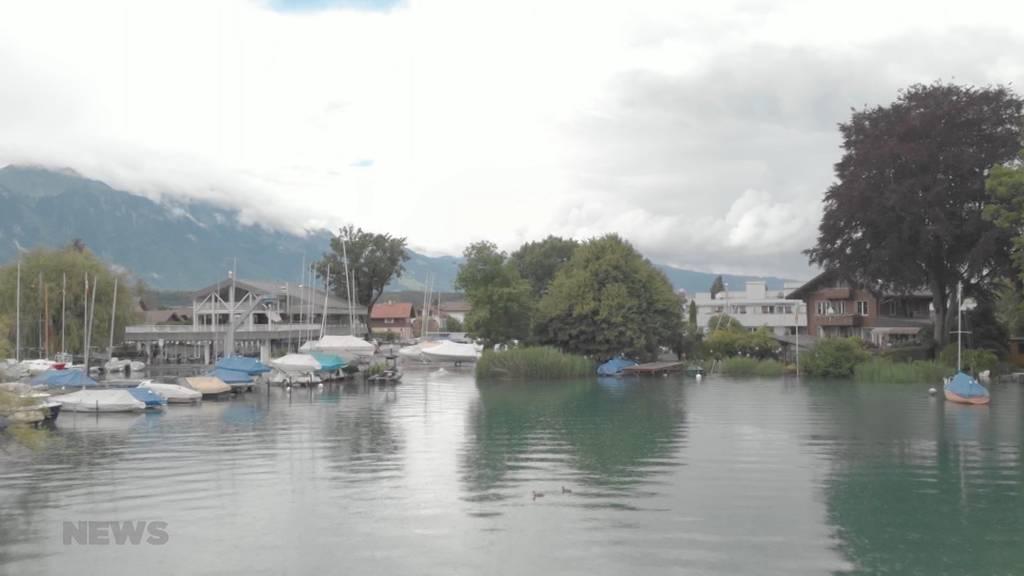 Pegel des Thunersees markant gestiegen: Der See läuft nun 40 Zentimeter über die Ufer