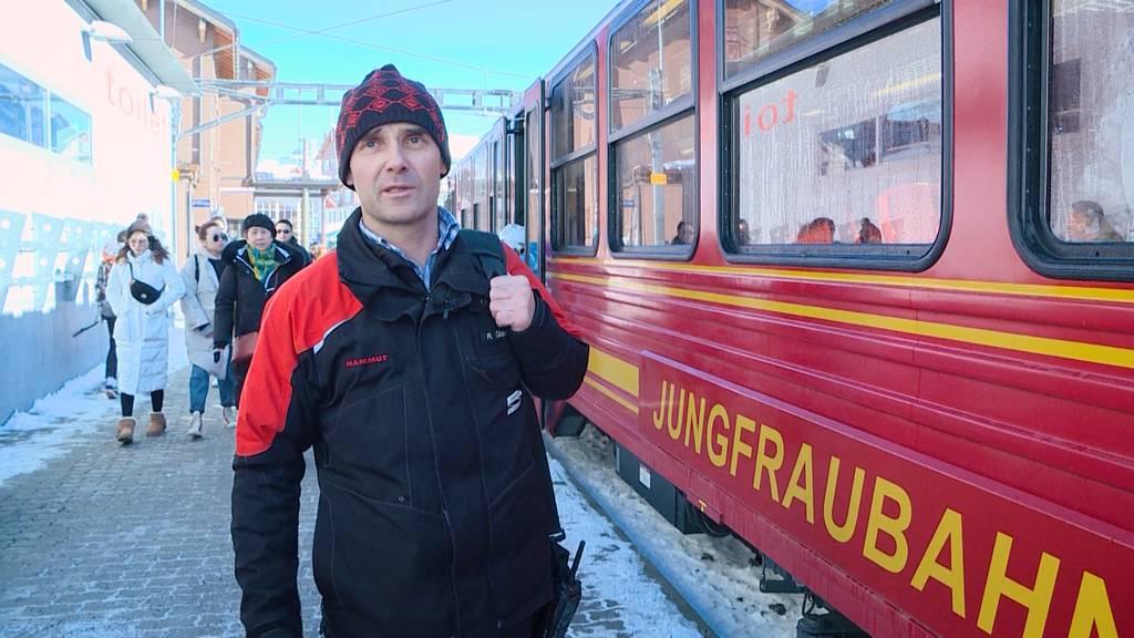 Roman Glanzmann: Zugbegleiter am Jungfraujoch