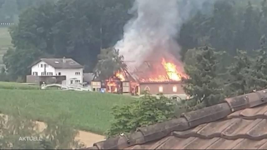 Scheune in Triengen komplett abgebrannt