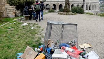 Das latente Müllproblem in Rom ist in den vergangenen Tagen eskaliert.Getty Images