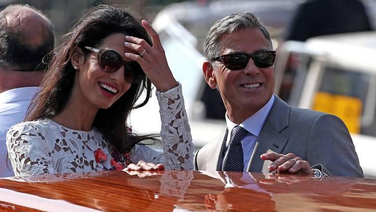 Endlich im Hafen der Ehe: Amal und ihr George Clooney.