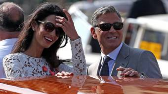 Ehepaar Clooney, frisch vermählt