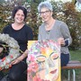 Andrea Egli (l.) und Rita Steiner zeigen am Wochenende ihre Werke.