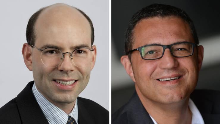 Urs-Peter Moos (parteilos) und Mike Keller (FDP) führen einen heftigen Wahlkampf über die Presse. (Archiv)