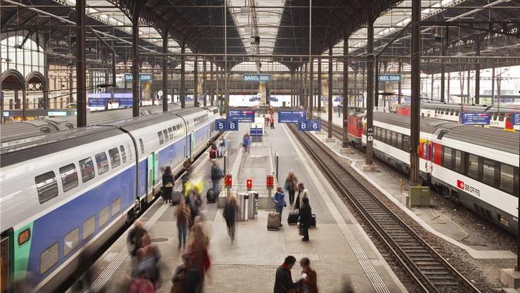 Basel ist der grösste Grenzbahnhof Europas: Beim Verkehr arbeitet die Schweiz eng mit der EU zusammen.