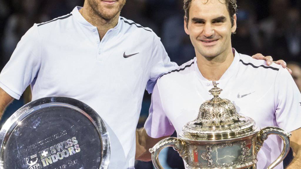 2017 gewann Roger Federer den Final in Basel gegen Juan Martin Del Potro. Diese Finalpaarung scheint auch 2018 wieder möglich.