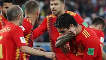 WM 2018: Impressionen des Spiels zwischen Spanien und Marokko