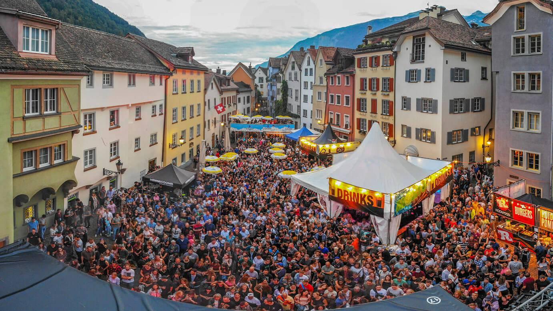 So sah es in den vergangen Jahren beim Churer Fest aus. (Archiv)