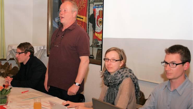 Unia führte Standortbestimmung durch: Emanuel Wyss, FrançoisQuidort, Vanessa von Bothmer und Lucian Robischon (v.l.).