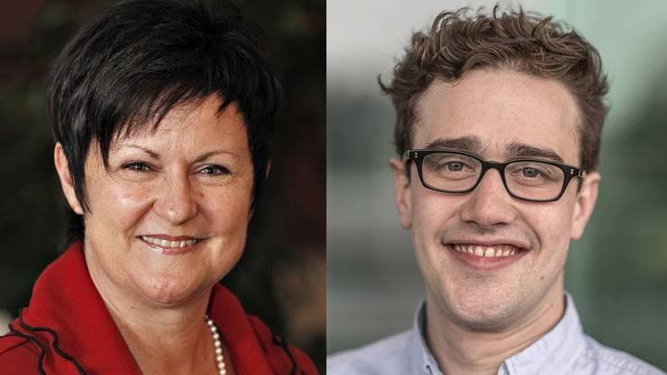 FDP-Kantonsrätin Marianne Meister und Juso-Präsident David Roth