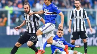 Juventus Turin kassierte auswärts gegen Sampdoria Genua die zweite Niederlage in der laufenden Meisterschaft