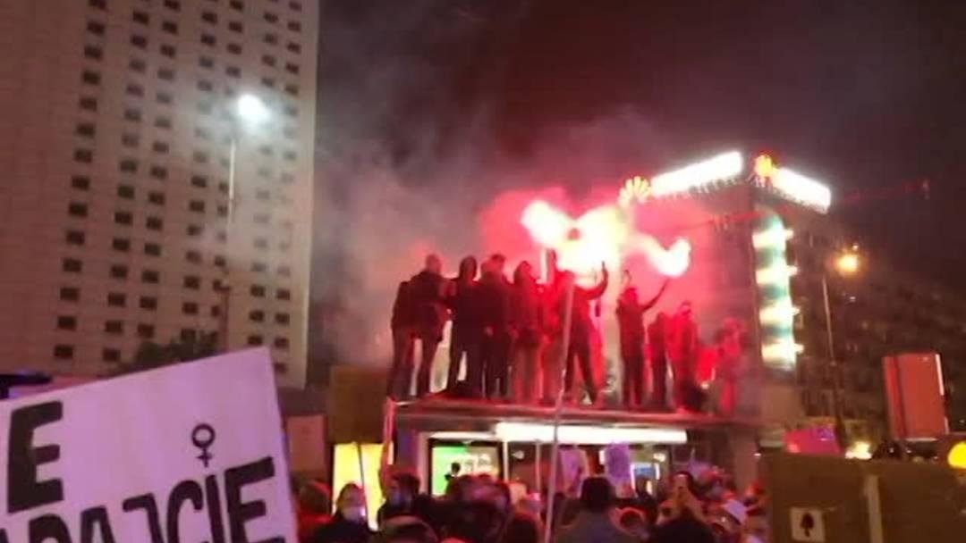 Strassenproteste in Warschau