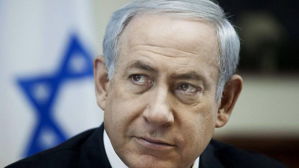 Auf der US-Abhörliste: Israels Premier Benjamin Netanjahu (Archiv)