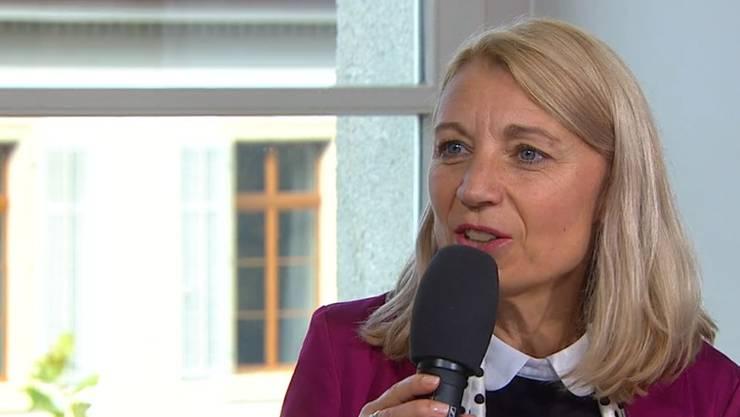 Yvonne Feri im TV-Talk am Wahlsonntag.
