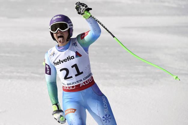 Die Slowenin Tina Maze schnappt Anna Fenninger die Goldmedaille um zwei Hundertstel weg.