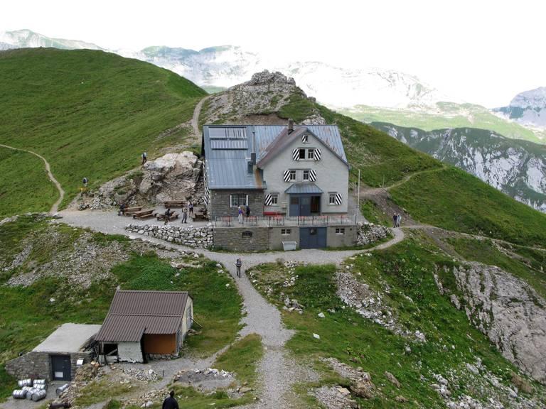 So sieht das Berggasthaus Rotsteinpass in der Sommersaison aus. (Bild: Tagblatt/Paul Broger)