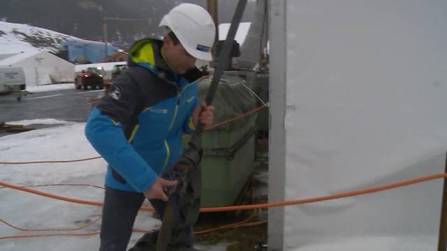 Aufbauarbeiten laufen trotz Sturm auf Hochtouren