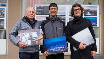 Sie haben das Projekt «Oltner Kalender 2017» umgesetzt (v.l.): Kurt Schibler,Tobias Oetiker und Florian Amoser.