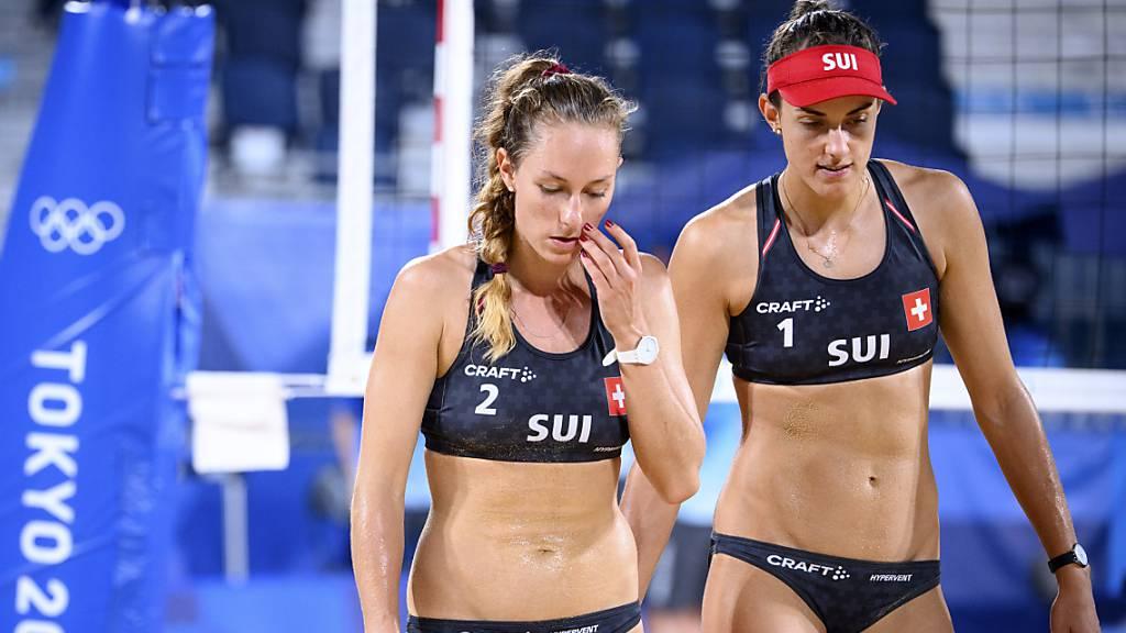 Wollen nach dem Achtelfinal-Out in Tokio an der EM  den Olympia-Frust vergessen machen: Nina Betschart (links) und Tanja Hüberli