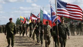 Nato-Soldaten bei einer Übung 2015 in Litauen. (Archiv)