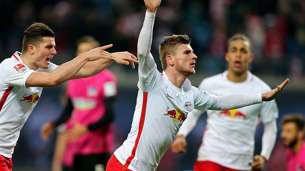 Timo Werner schoss das 1:0 für Leipzig