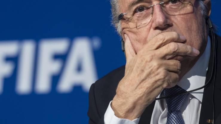 Ein nachdenklicher Sepp Blatter