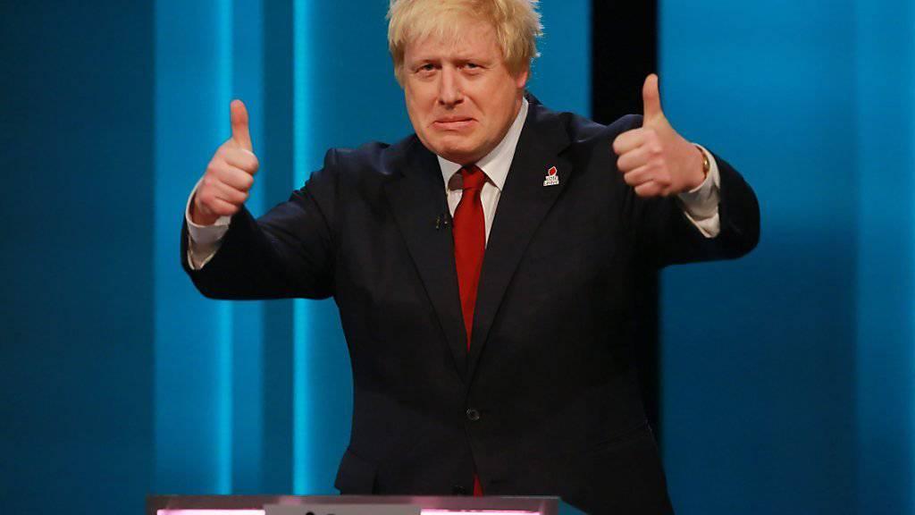 Die strohblonden Haare des früheren Londoner Bürgermeister Boris Johnson sind gefärbt. (Archivbild)