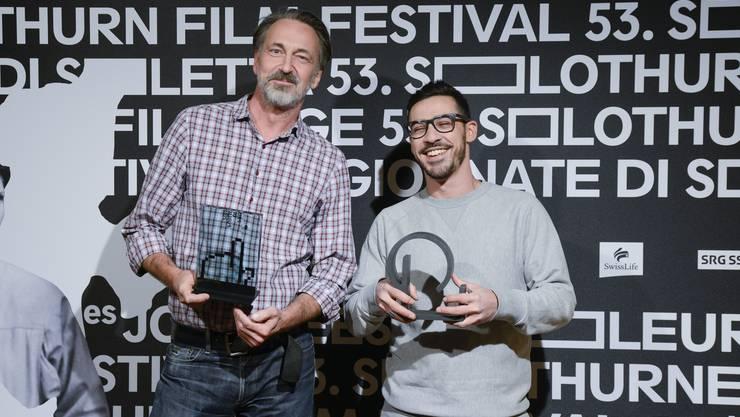 Die Preisträger: Bernard Weber erhält den «Prix du Public» und Karim Sayad den «Prix de Soleure».