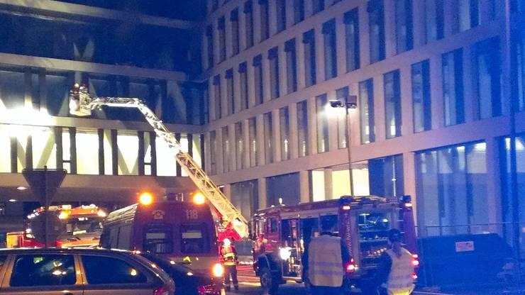 Grossbrand auf dem Campus-Neubau Brugg-Windisch.