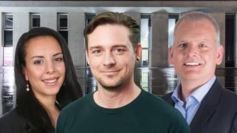 Leila Drobi (SP), Dominik Ritzmann (Grüne) und Daniel Frey (FDP) wurden in den Gemeinderat gewählt.