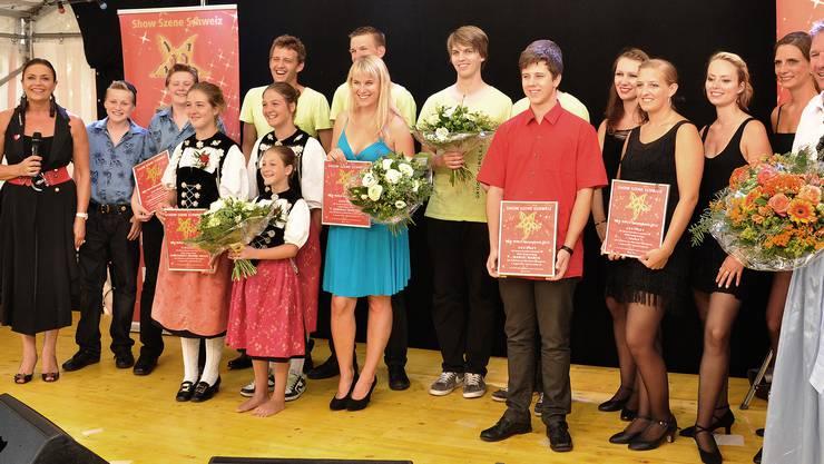 Monika Kaelin (links) mit den Teilnehmern.