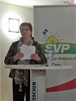 KR Ruth Frei referierte zum JA zur Verselbständigung des Kantonsspital Winterthur und IPW
