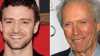 Justin Timberlake und Clint Eastwood (Archiv)