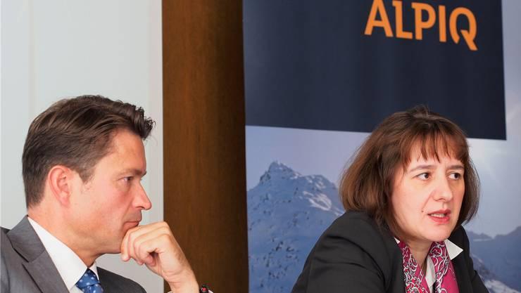 Vertrauensvotum aus dem Solothurner Kantonsrat: Alpiq-CEO Jasmin Staiblin und Finanzchef Patrick Mariller bko