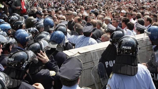 Kundgebung in Tirana