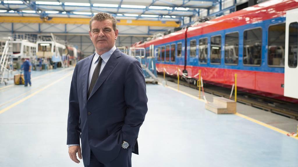 CEO Peter Spuhler hat sich mit den Gewerkschaften auf einen neuen GAV geeinigt.