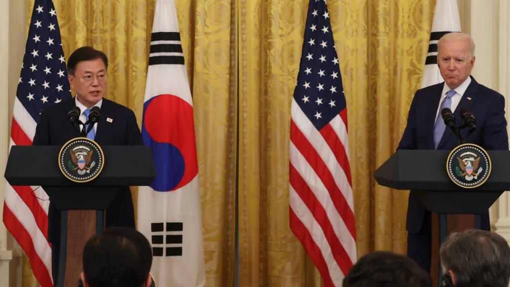 Biden: USA und Südkorea «sehr besorgt» über Nordkoreas Atomprogramm