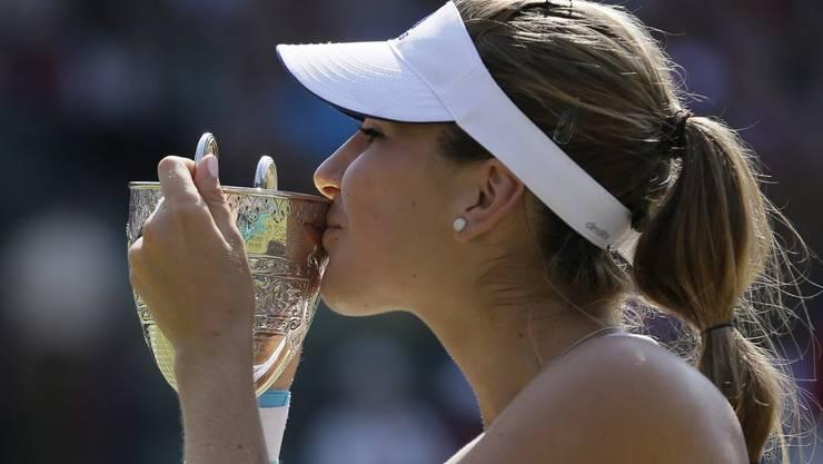 Das war 2013: Belinda Bencic gewinnt die Juniorenausgabe von Wimbledon.