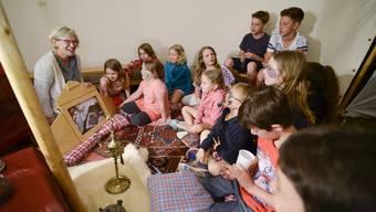 Auch die Kinder waren in der Reformierten Kirche voll und ganz bei der Sache.