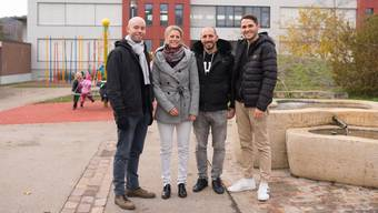 Julian Terzetti, Carole Binder-Meury, Ismael Martinez und Cedric Wilhelm (v.l.) als Projektgruppe.
